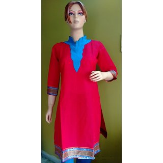 Cotton Kurtis Red