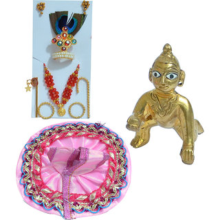 ONLY4YOULadoo Gopal With Dress And Shringar Set
