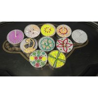 TEA LIGHT DESIGNER CANDLE FOR RANGOLI (WITH OR WITHOUT TIM) (PACK OF 10 PCS)