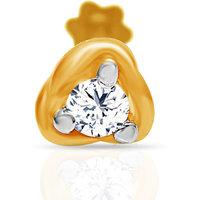Jacknjewel  Gold Lotus Nose Pin