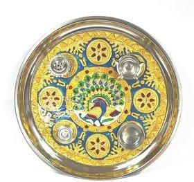 Aapkidukan Meenakari Pooja Thali Specially Made for Diwali
