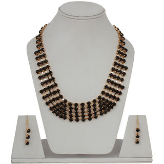 Shopping Villa Western style black cubic metal necklace wth earing