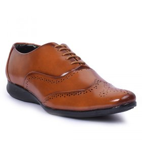 Foot n Style Mens Tan Formal Lace-up Shoes