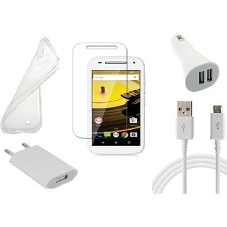 HQ USB Charger+USB Cable+USB Car Charger+Temper+ Back Cover for Motorola Moto E2