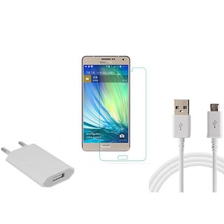 HQ USB Charger+USB Cable+Temper forSamsung Galaxy A7