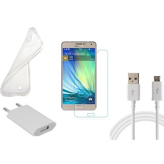 HQ USB Charger+USB Cable+Back Cover+Temper for Samsung Galaxy A7