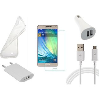 HQ USB Charger+USB Cable+USB Car Charger+Temper+ Back Cover for Samsung Galaxy A7