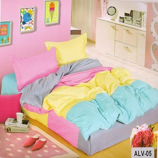 Welhouse India Elegant Ultra-Pink color Double Bedsheet With Two Pillow Covers