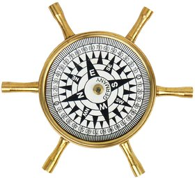 Antique Wheel Design Pure Brass Real Compass 141