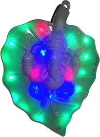 VRCT Wall Hanging Ganesha Leaf Lamp (Multicolor)