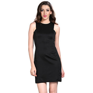 Brii Womens Beautiful Black Colored Solid Dress