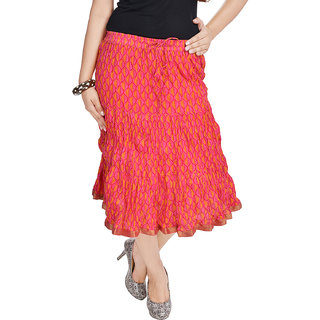 Rajasthani Orange Short Skirt