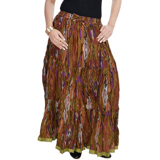 Rajasthani Ethnic Multi Floral Pure Cotton Skirt