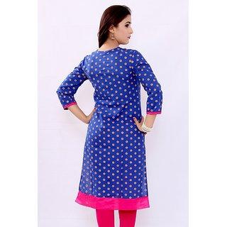 Swaragini printed womens straight cotton kurta