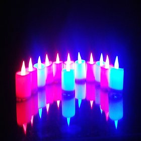 VRCT Led Candle Battery Operated Color (Pack of 12)