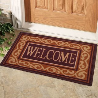 Status Brown Floor Mat ( 15 X22 Inch ) Buy 1 Get 1 Free
