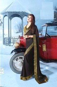Vardhini Beige Brocade Embroidered Saree With Blouse