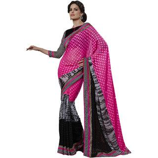 Shree Fashion Hub Awesome Pink Net Designer Saree