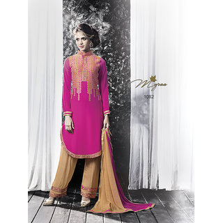 14028fa25d Buy Designer embroiderd party wear georgette semi stitched suit myraa 1082  Online - Get 48% Off