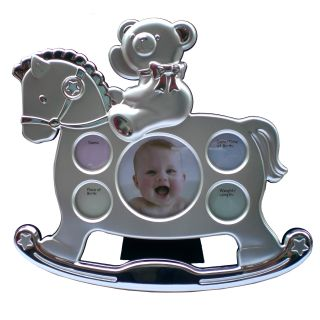 Rocking Horse Photoframe with Teddy