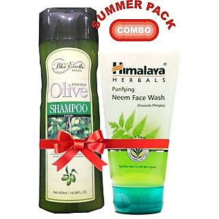 Summer Pack Hair Shampoo Olive With Himalya Face Wash