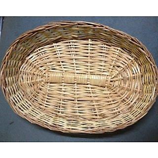 Cane Designer Fruit Oval Basket - All India Handicraft