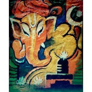 Ganpati handmade painting
