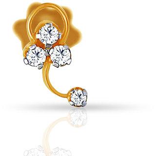 Jacknjewel SHORT RIBBON DIAMOND NOSE PIN