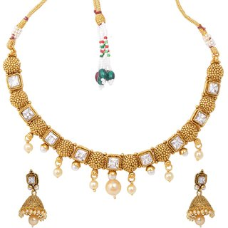 Gold Plated Choker Necklace Set for Women