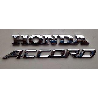 Buy Logo Honda Accord Car Monogram Logo Emblem Chrome Badge Online