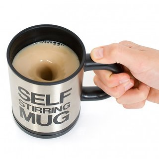 Awesome Self Stirring Mug-Stainless Tea/Coffee/Juice Mixing Cup Blender-Best gift