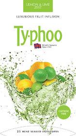 Typhoo Lemon and Lime Zest Fruit Infusion Tea-Caffeine Free , 25 Tea Bags