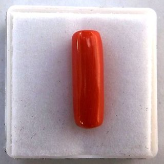 6.5 Carat Natural Capsule Face Loose Coral Stunning Stone For Ring