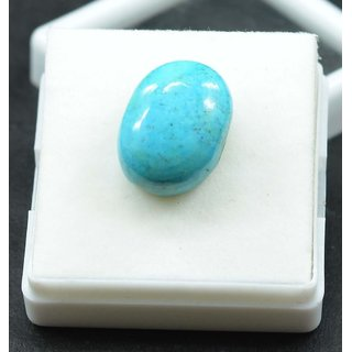 10.5 Carat Real Natural Oval Cabochon Blue Turquoise Loose Gemstone