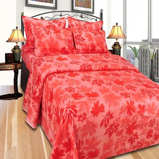 44112ca9b8 JBG Home Store Double Bed Winter Bedsheet cum blanket with 2 Pillow Covers