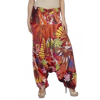 True Fashion Flower Printed Cotton Womens Harem Pant