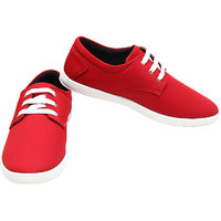 Port OddY Pure Red Casual Sneakers for Men