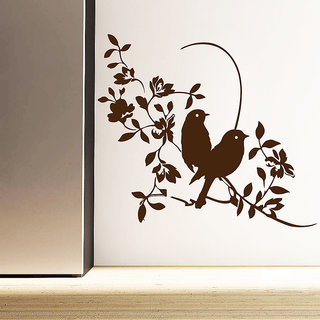 Decor Kafe Sparrow Style Wall Sticker (26x22 Inch)