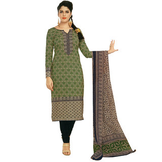 SGC Multi Cotton unstitched churidar kameez (SG- 311)