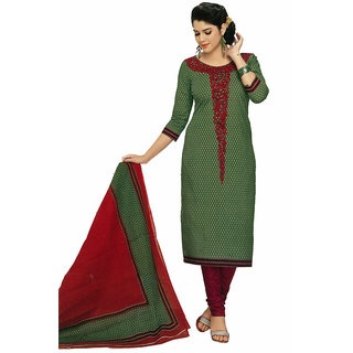 SGC Purple  Blue Cotton unstitched churidar kameez (SG- 320)