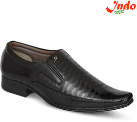 Indo Black Formal Shoes (PRN0033NL) For Men