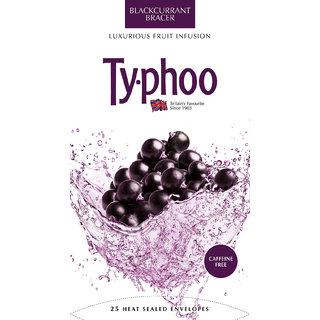 Typhoo Blackcurrant Fruit Infusion Tea, 25 Tea Bags
