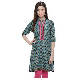 Vandy Crafts  Green Cotton Kurti