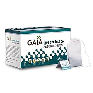 Gaia Assorted Green Tea (25 Tea Bags)