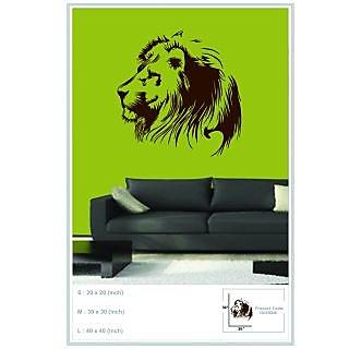 Decor Kafe Sticker Style Lion Wall Sticker 40x40 Inch)