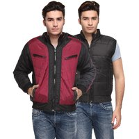 TSX Men's Maroon & Black Jackets (Combo)