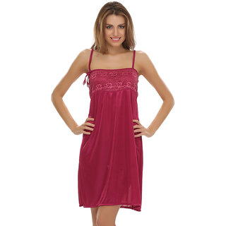 e9f463808f3 Buy Clovia Lacy Dark Pink Sexy Babydoll Online   ₹299 from ShopClues