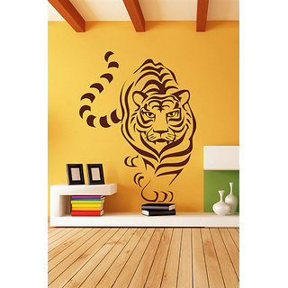 Decor Kafe Tiger Line Art Wall Decal (13x17 Inch)