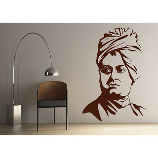 Decor Kafe Legend Swami Vivekanand Wall Decal (11x16 Inch)