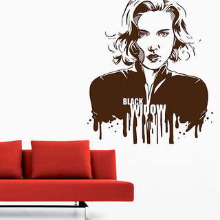 Decor Kafe Black Widow Wall Decal (18x20 Inch)